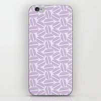 macaroon iPhone & iPod Skins featuring French Pattern - Violet Macaron - Purple Macaroon by French Macaron Art Print and Decor Store