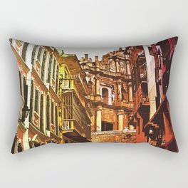 the little Macau from the LOVE ROAD Rectangular Pillow