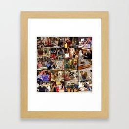 Friends Scene Collage Framed Art Print