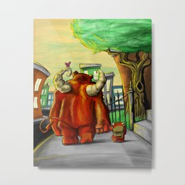 Daddy's Little Monster Metal Print