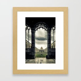 Monumental cemetery of Pisa Framed Art Print