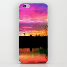 Watercolor January Texas Sunrise iPhone Skin