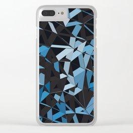 3D Futuristic GEO Lines XVI Clear iPhone Case