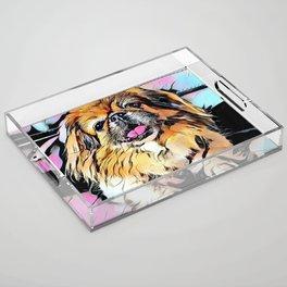 Pekingese Cartoon photo Acrylic Tray