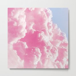 Retro cotton candy clouds Metal Print