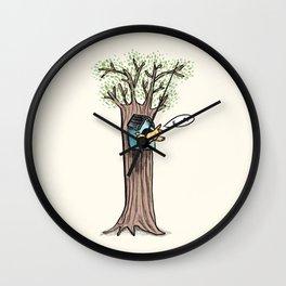 Rude Bird Wall Clock