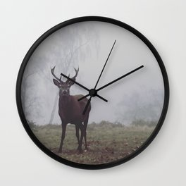 Foggy Richmond Park Wall Clock