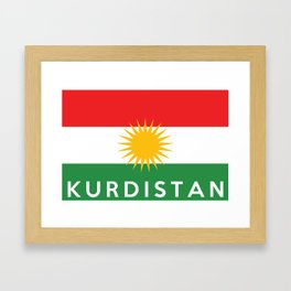 Kurdistan country flag name text Framed Art Print