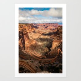 Shafer Trail Canyon, Canyonlands National Park Art Print