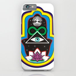 HamsaColorful iPhone Case