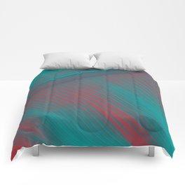 """Teal & Pastel Pink Big Leaf"" Comforters"