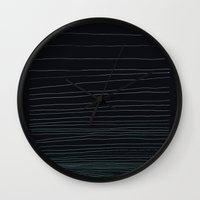 pen Wall Clocks featuring Pen by Jaclyne Ooi
