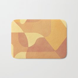 Geometric Pattern in Summer Orange Bath Mat