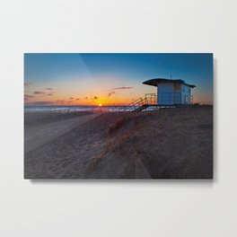 Beach Hut (2) Metal Print