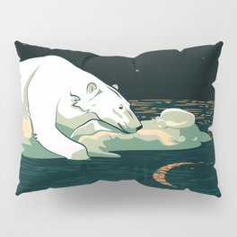 Polar Bear and the Moon Pillow Sham