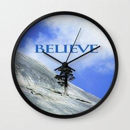 BELIEVE: A Motivational Affirmation Wall Clock