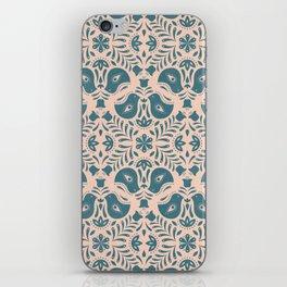 Scandinavian Folk Art (Blue) iPhone Skin