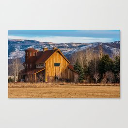 Barn Style House - Heber Valley - Utah Canvas Print