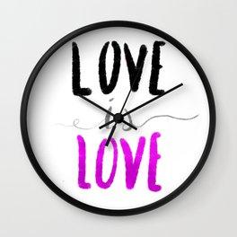 Love is Love - Ace Wall Clock