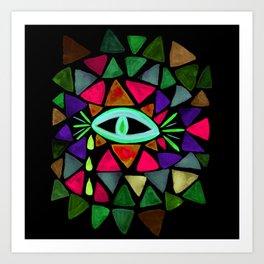 Crystaleyes 6 Art Print