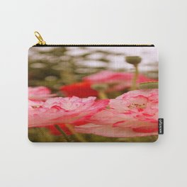 Pink Poppies Carry-All Pouch