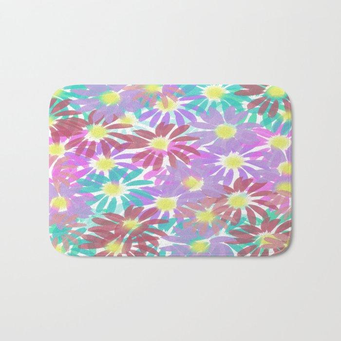 Painterly Floral Explosion Bath Mat