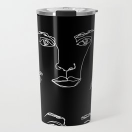 Faces one line illustration - Cyra Travel Mug