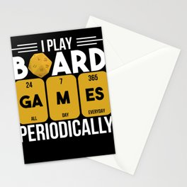 Nerd I Play Board Games Periodically Gift Stationery Cards
