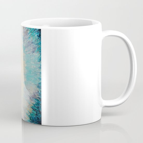 MYSTIC GARDEN Lovely Fairy Land Abstract Painting Acrylic Fine Art Winter Colorful Fantasy Magical Mug