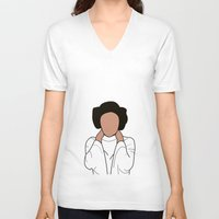 princess leia V-neck T-shirts featuring Princess Leia by Blancamccord