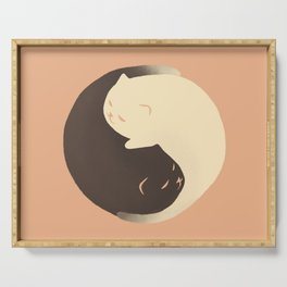 Hidden cat 9 Yin Yang kitty Serving Tray