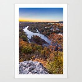 Table Rock Lake Autumn Sunset - Missouri Landscape Art Print