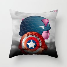 Berto: The Mental-issue pig as Captain America Throw Pillow
