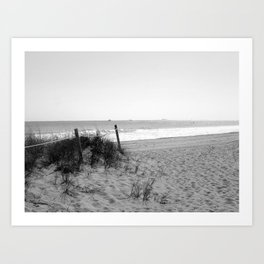 """""""Place Your Footprints In the Sand"""" Art Print"""