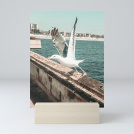 Seagull Taking Flight // California West Coast Pier Vibes Beach Ocean Surf City USA Mini Art Print