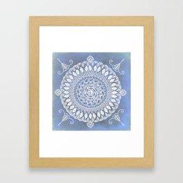Paisley Moon Henna Mandala Framed Art Print