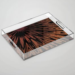 Native Tapestry in Burnt Umber Acrylic Tray