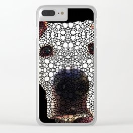 Stone Rock'd Dog 2 by Sharon Cummings Clear iPhone Case