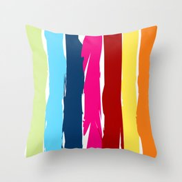 Multicolor stripes background Throw Pillow