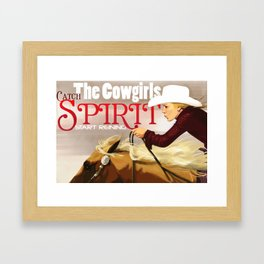 Reining Girl Framed Art Print