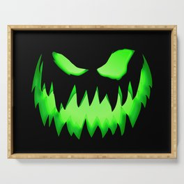 Evil Green ghost Serving Tray