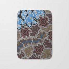 Water Lilly Dreaming - Authentic Aboriginal Art Bath Mat