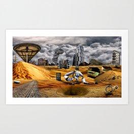 Catastrophic world Art Print