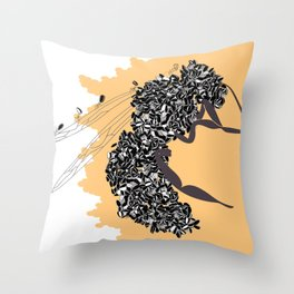 Seeds and the wasp Throw Pillow