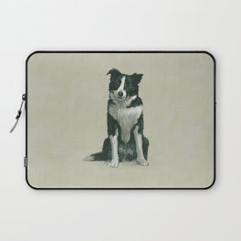 border collie herding dog Laptop Sleeve