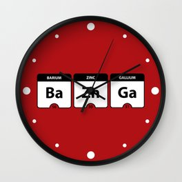 Bazinga Periodic Table Funny Quote Wall Clock