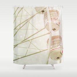 Ferris wheel photography pink bokeh Shower Curtain