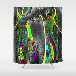 Never Ending,neon Shower Curtain