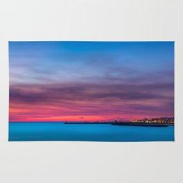 Red sunset over Porto Rug
