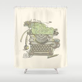 A Certain Type of City Shower Curtain